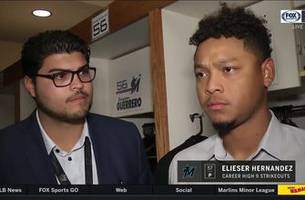 elieser hernandez talks today's performance, jon berti's catch