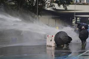 Cannon and tear gas at Hong Kong protest