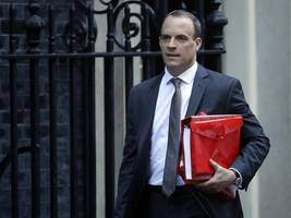 raab accuses eu of political posturing before johnson talks