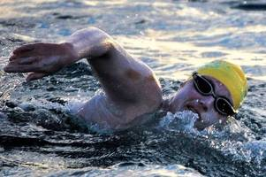 heroic breast cancer survivor arrives in dover after historic english channel swim