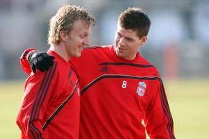 dirk kuyt sums up rangers boss steven gerrard in two words as he lifts lid on liverpool glory days