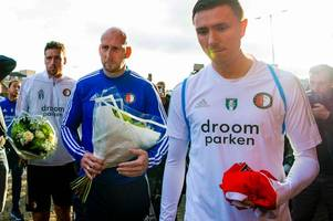 fernando ricksen's old holland team-mate lays floral tribute at rangers