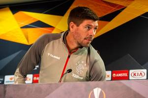 watch steven gerrard's rangers press conference in full as manager makes europa league vow