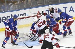 devils spoil preseason debut for new rangers panarin, kakko