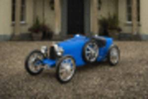 bugatti celebrates 110 years with test drives of 3:4 scale bugatti baby ii