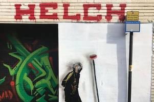 banksy-style street art appears in birmingham - but who is helch?