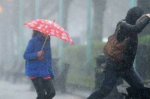 met office say hurricane humberto will batter devon and cornwall with rain and wind