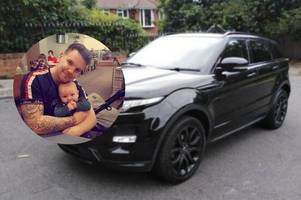 dad left devastated after thieves steal his dream range rover hours after buying it