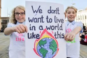 dozens of protestors attend stoke-on-trent's global climate strike
