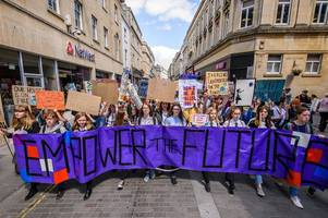 Climate change protests in Bath: Hundreds of young activists to march through city - live updates