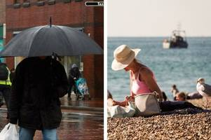 kent weather: mini heatwave will come to a crashing end with heavy rain predicted