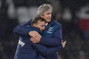 'I think he'll be here for years' - Mark Noble predicts long West Ham stay for Manuel Pellegrini