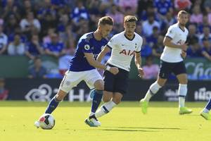 james maddison fires leicester city to victory over tottenham hotspur amid var drama