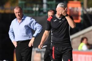 jim goodwin blasts hamilton's time wasting tactics as 10-man accies shut out st mirren