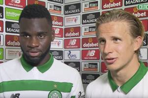 odsonne edouard finds his celtic translator as moritz bauer shows off his skills