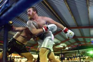 andy powell stages boxing match in purpose-built barn in rural wales and wins the fight
