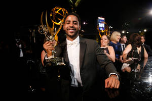 jharrel jerome wins emmy for 'when they see us,' reveals his lin-manuel miranda connection