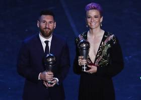 lionel messi, megan rapinoe win fifa player of the year awards