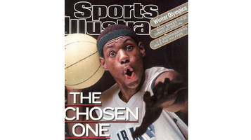 LeBron James's HS Jersey Featured on SI Cover is Up to More Than $37K in Auction