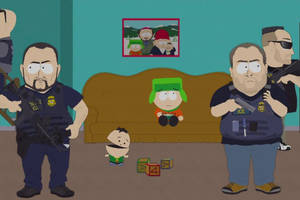 'south park' season 23 premiere: ice raids the broflovski home and cartman finds it hilarious (video)