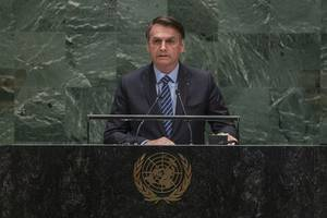 brazil's president jair bolsonaro rejects 'fallacy' of amazon being part of human heritage