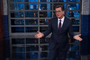 colbert's audience gives standing ovation to news of impeachment inquiry against trump (video)