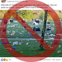 viral photo falsely targets climate strike protesters
