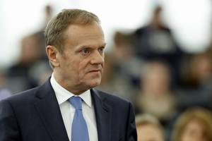 tusk 'fully behind ireland' as meps reject uk brexit proposals