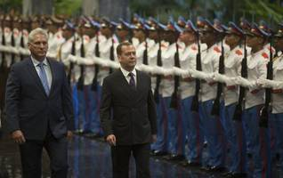 russia's medvedev slams us for cuba embargo during havana trip