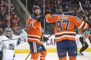 James Neal, Connor McDavid help Oilers outlast Kings 6-5