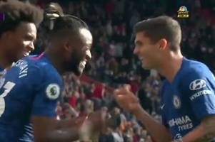 chelsea fans loved what michy batshuayi and christian pulisic did after the fourth goal