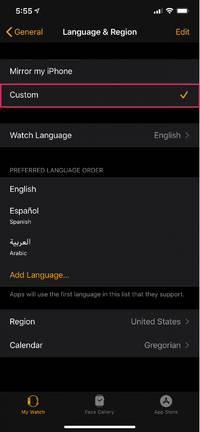 How to change the language on an Apple Watch, and make it differ from the language on your paired iPhone