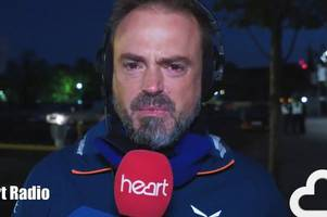 tearful jamie theakston admits he's in 'dark place' as he reaches birmingham during charity challenge