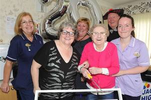 wishaw nursing home residents and staff celebrate 20th birthday bash in style