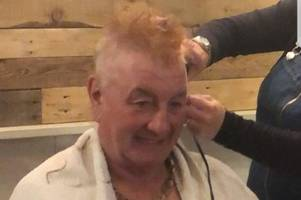 graham 'braves the shave' for macmillan