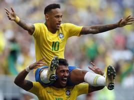 neymar emotional with 100th brazil cap