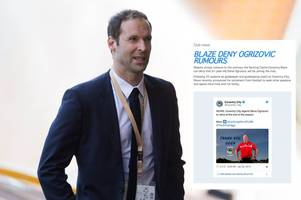 coventry blaze in cheeky dig at ice hockey rivals as petr cech joins guildford