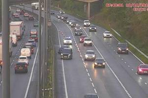 Live updates as three-car accident causes 40-minute M4 delays