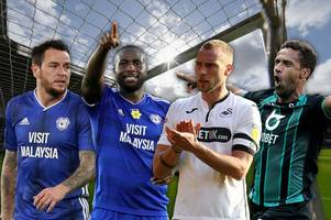 the 192 players available to championship clubs at potential cut-price fee in january including cardiff city and swansea city stalwarts