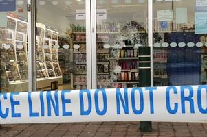 man arrested after boots branch smashed up by thieves