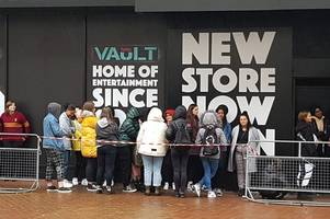 the new hmv vault opens in dale end with liam payne.