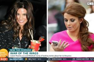 gmb: rebekah vardy says she's received death threats online amid coleen rooney twitter feud