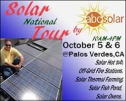 National Solar Tour this weekend October 5/6 visits ABC Solar Research and Development
