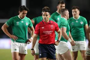 there's nothing i can do about it, i'm not a groundsman - ireland v samoa pitch sparks brilliant reaction from referee