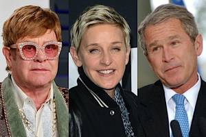 elton john: 'i admire ellen' for 'standing up' to criticism of her friendship with george w bush