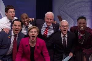 'snl' cold open features lin-manuel miranda, billy porter and woody harrelson in lgbt town hall (video)