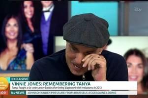 Vinnie Jones slams 'embarrassing' Rebekah Vardy and Coleen Rooney as he sobs on GMB over wife Tanya