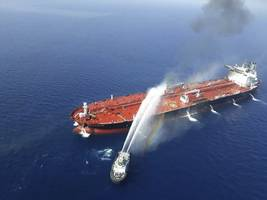 iran releases pictures of tanker attacked off saudi