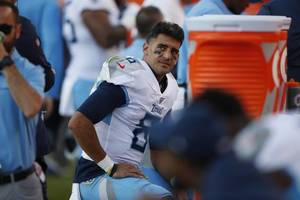 marcus mariota benched during tennessee titans' loss to the denver broncos: recap, score, stats and more