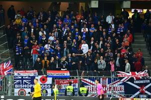 rangers fans to be refused entry at europa league clash with porto if too drunk